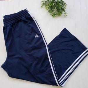 Adidas Navy Blue 3 Stripe Athletic Pants sz 2XL